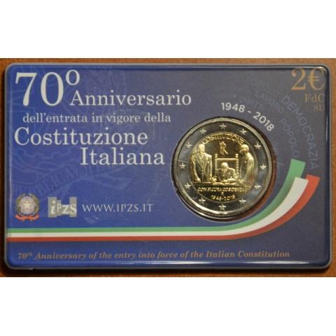 2 Euro Taliansko 2018 - 70. výročie talianskej ústavy (BU)