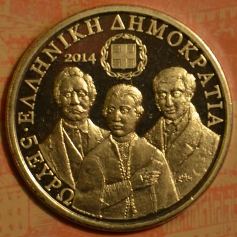 5 Euro Greece 2014 - Filiki Eteria (UNC)