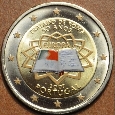 2 Euro Portugal 2007 - 50th anniversary of the Treaty of Rome (colored UNC)