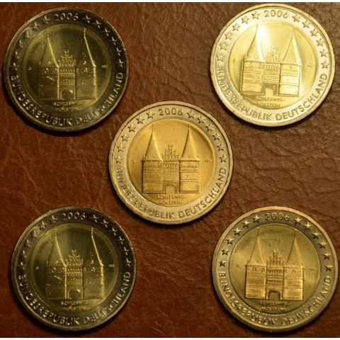 2 Euro Germany 2006 - Holstentor in Lübeck / Schleswig-Holstein (UNC)
