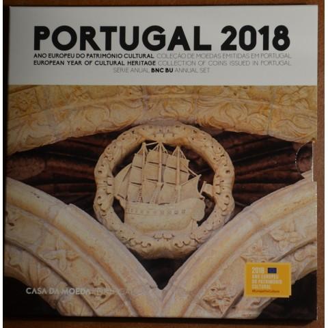 Sada 8 portugalských mincí 2018 (BU)