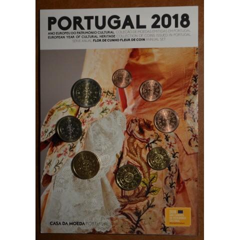 Sada 8 portugalských mincí 2018 (UNC)