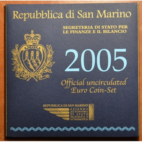 Official 9 coins set of San Marino 2005 (BU)