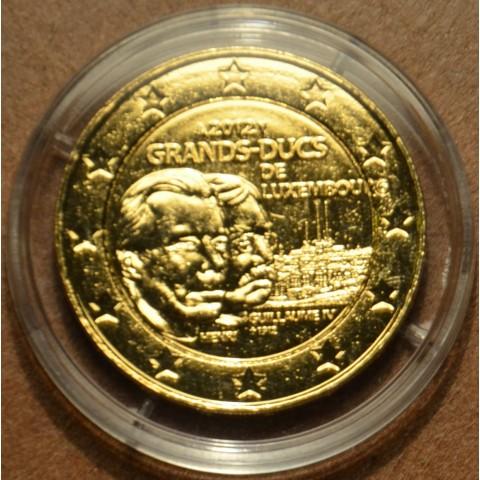 2 Euro Luxembursko 2012 - 100. výročie úmrtia Viliama IV.  (pozlatená UNC)