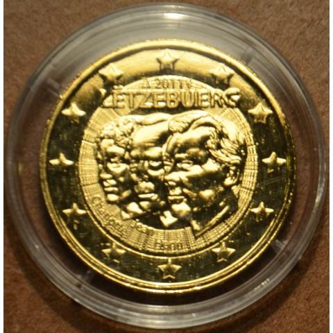 2 Euro Luxembursko 2011 - 50. výročie vymenovania Jeana (pozlatená UNC)