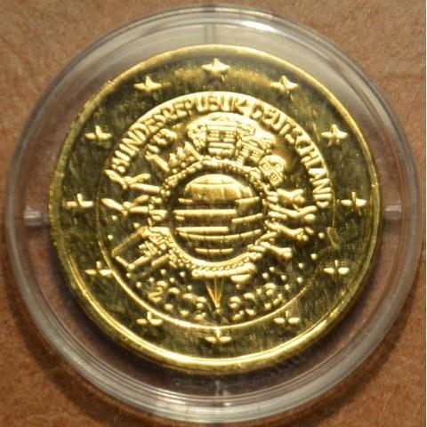 """2 Euro Nemecko """"F"""" 2012 - 10. výročia vzniku Eura II. (pozlatená UNC)"""