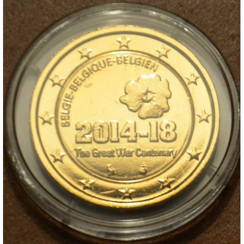 2 Euro Belgium 2014 - The Great War Centenary (gilded UNC)