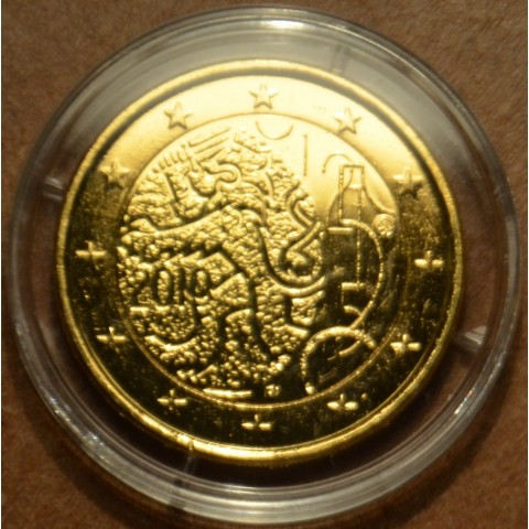 2 Euro Fínsko 2010 - 150. výročie Fínskej meny (pozlatená UNC)