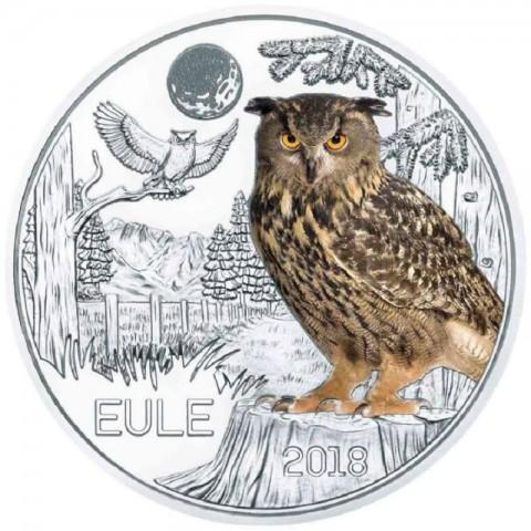3 Euro Austria 2018 Owl (UNC)