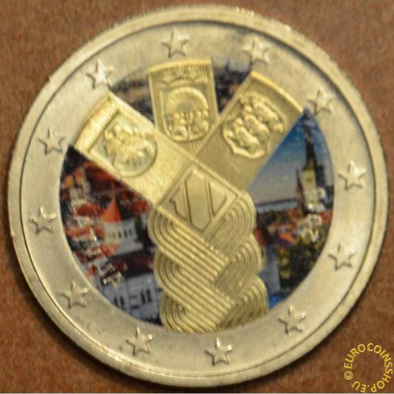 2 Euro Lithuania 2018 100 Years of Independence Baltic Community Issue UNC
