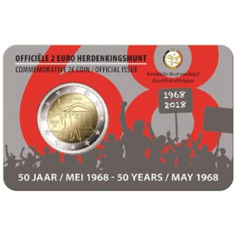 Predpredaj 2 Euro Belgicko 2018 - 1968 holandská strana (BU karta)
