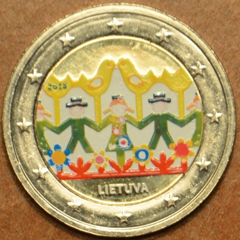 2 Euro Lithuania 2018 - Lithuanian Song and Dance celebration (colored UNC)