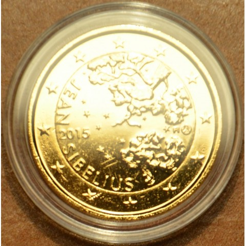 2 Euro Fínsko 2015 - Jean Sibelius (pozlátená UNC)