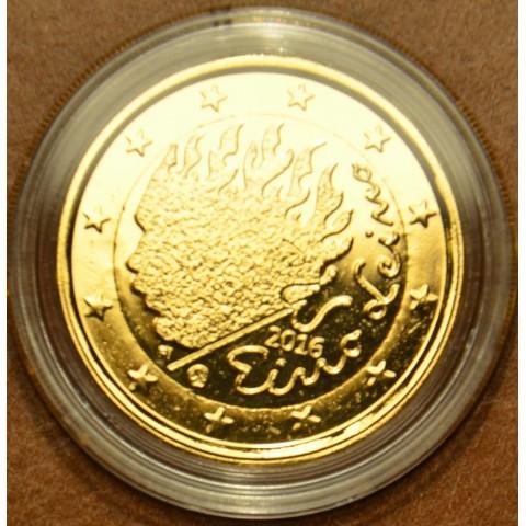 2 Euro Fínsko 2016 - Eino Leino (pozlátená UNC)