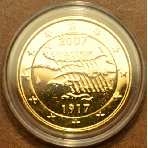 2 Euro Finland 2007 - 90th Anniversary of Finland's Independence (gilded UNC)