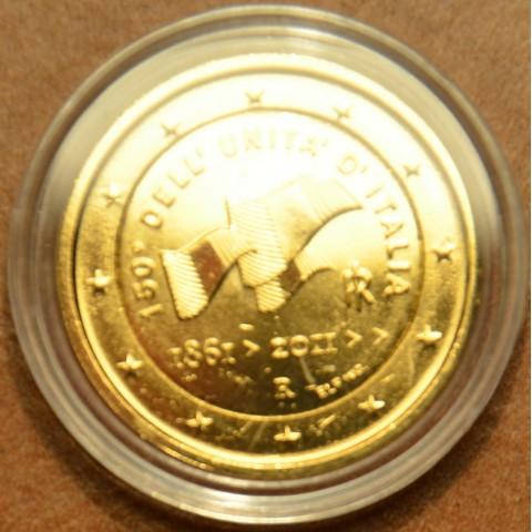 2 Euro Taliansko 2011 - 150. výročie zjednotenia Talianska (pozlátená UNC)