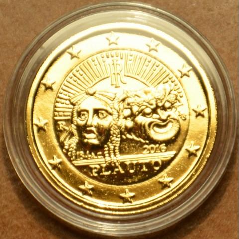 2 Euro Taliansko 2016 - 2200. výročie úmrtia Plautusa (pozlátená UNC)