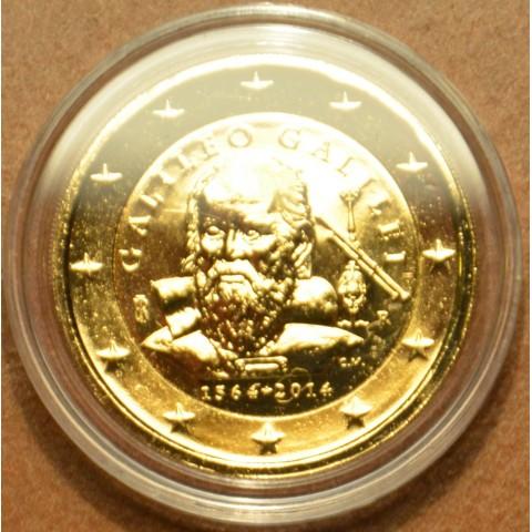 2 Euro Taliansko 2014 - 450 rokov od narodenia Galileo Galilei (pozlátená UNC)