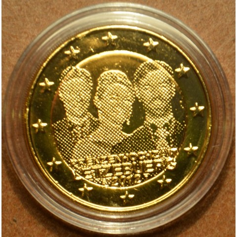 2 Euro Luxembourg 2012 - Royal Wedding  (gilded UNC)