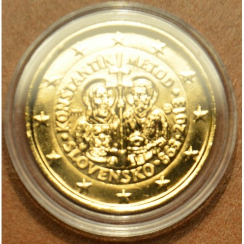 2 Euro Slovakia 2013 - 1150th Anniversary of Cyril and Metod (gilded UNC)