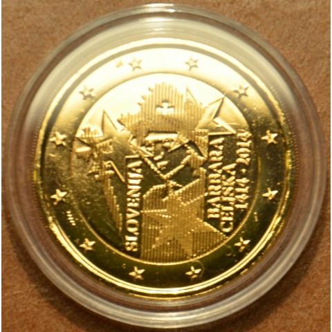 2 Euro Slovinsko 2014 - 600. výročie korunovania Barbory Celjska (pozlátená UNC)