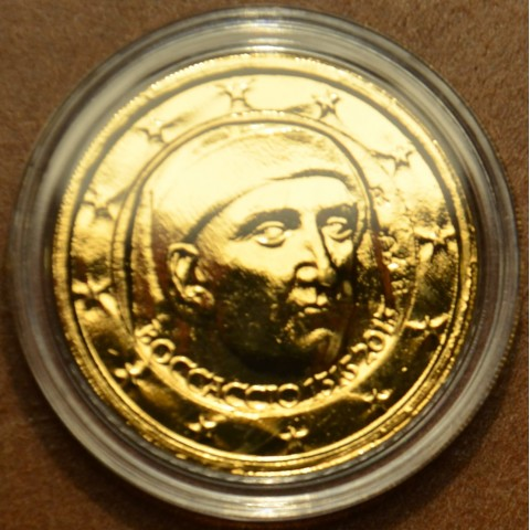 2 Euro Italy 2013 - 700th Anniversary of the Birth of Giovanni Boccaccio (gilded UNC)