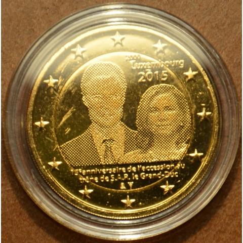 2 Euro Luxembursko 2015 - 15. výročie nastúpenia Henricha na trón (pozlátená UNC)
