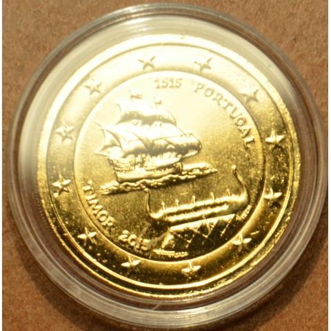 2 Euro Portugalsko 2015 - 500 rokov objavenia Timoru (pozlátená UNC)