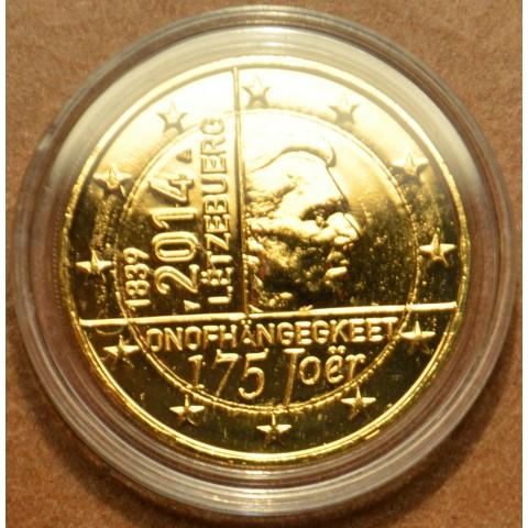 2 Euro Luxembursko 2014 - 175. rokov nezávislosti (pozlátená UNC)