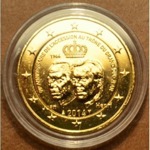 2 Euro Luxembursko 2014 - 50. výročie nastúpenia Jeana Luxemburského na trón (pozlátená UNC)
