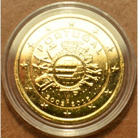 2 Euro Portugalsko 2012 - 10. výročia vzniku Eura (pozlátená UNC)