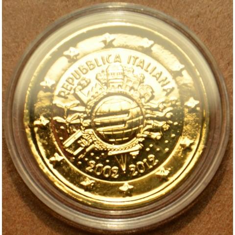 2 Euro Taliansko 2012 - 10. výročia vzniku Eura (pozlátená UNC)