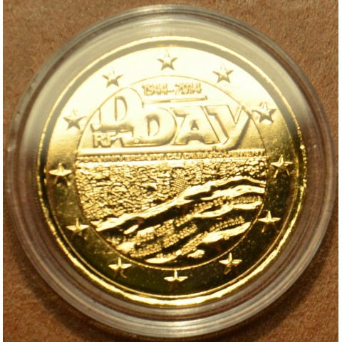 2 Euro France 2014 - 70th Anniversary of the D-Day (gilded UNC)