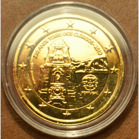 2 Euro Portugal 2013 - 250 Years of the Torre dos Clérigos (gilded UNC)