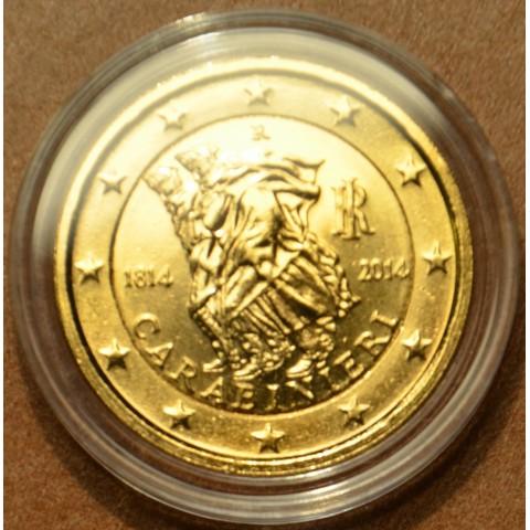 2 Euro Italy 2014 - 200 years of Carabinieri (gilded UNC)
