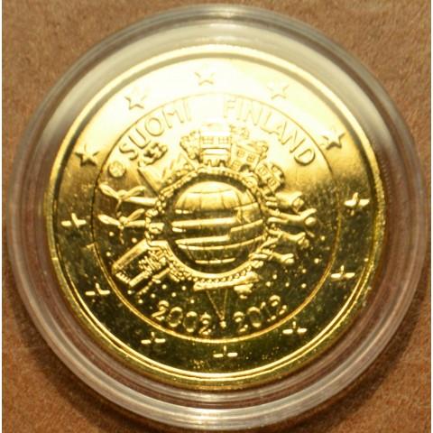 2 Euro Fínsko 2012 - 10. výročia vzniku Eura (pozlátená UNC)