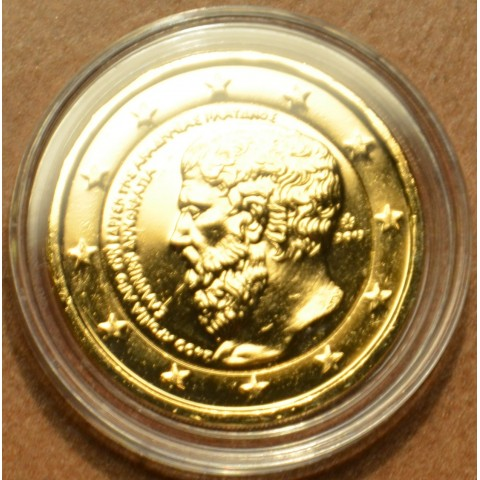 2 Euro Grécko 2013 - 2400 rokov Platónovej Akadémie (pozlátená UNC)