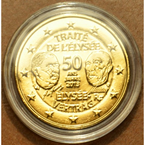 2 Euro France 2013 - 50 Years of the Élysée Treaty (gilded UNC)