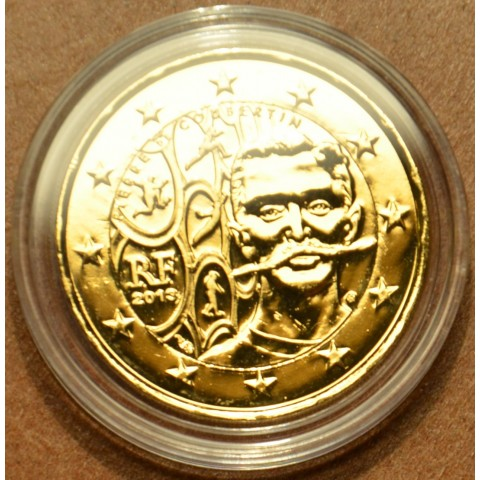 2 Euro France 2013 - 150th Anniversary of Pierre de Coubertin`s Birth (gilded UNC)