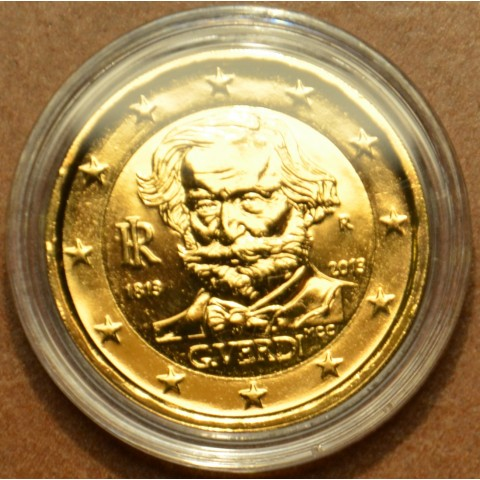 2 Euro Italy 2013 - 200th Anniversary of the Birth of Giuseppe Verdi (gilded UNC)