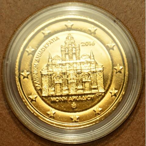 2 Euro Grécko 2016 - Kláštor Arkadi (pozlátená UNC)