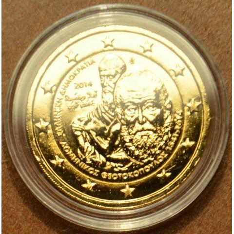 2 Euro Grécko 2014 - 400. výročie smrti Domenikosa Theotokopoula (pozlátená UNC)