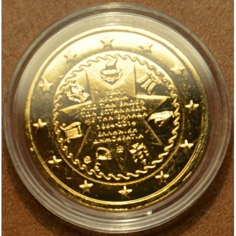 2 Euro Grécko 2014 - 150. výročie únia Grécka a Iónskych ostrovov (pozlátená UNC)