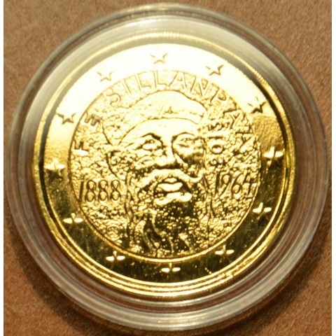 2 Euro Finland 2013 - 125th Anniversary of the birth of Nobel prize winning author F.E.Sillanpaa (gilded UNC)
