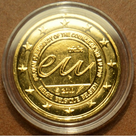 2 Euro Belgium 2010 - Belgian Presidency of the Council of the European Union (gilded UNC)