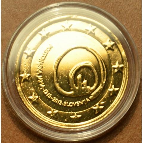 2 Euro Slovinsko 2013 - 800 rokov od objavenia Postojnskej jaskyne (pozlátená UNC)