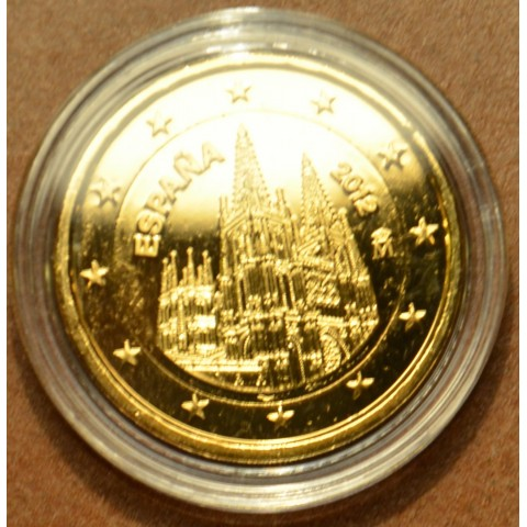 2 Euro Spain 2012 - The Burgos Cathedral  (gilded UNC)