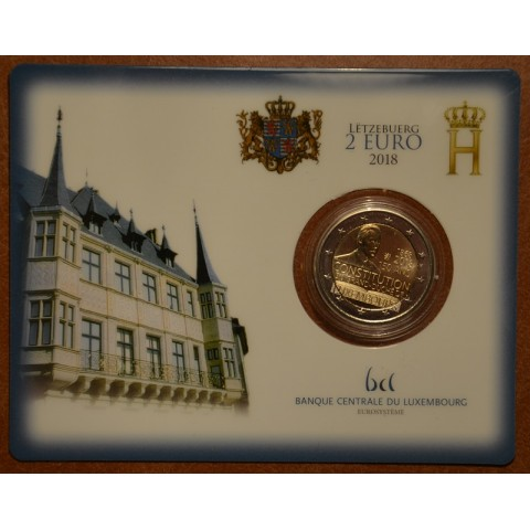 2 Euro Luxembourg 2018 - The 150th anniversary of the Luxembourg Constitution (UNC card - no mintmark)