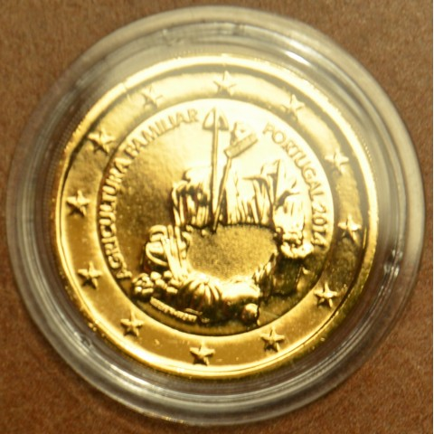 2 Euro Portugal 2014 - Family farming  (gilded UNC)