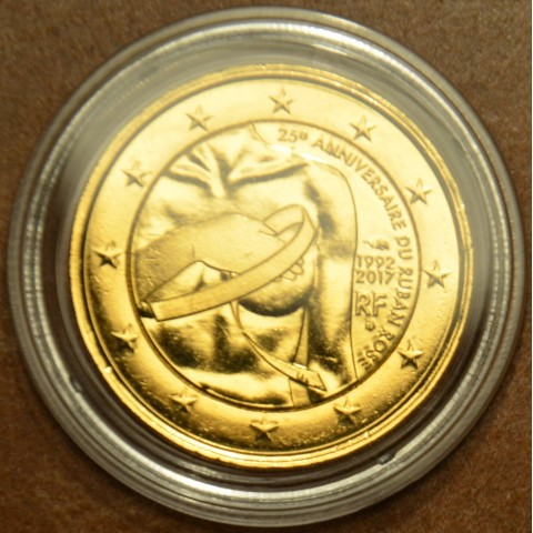 2 Euro France 2017 - Breast cancer research (gilded UNC)